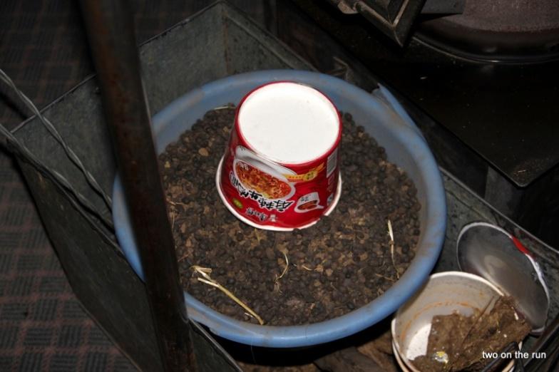 Brennstoff - hier Ziegenkot