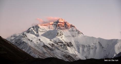Mt. Everest beim Sonnenuntergang