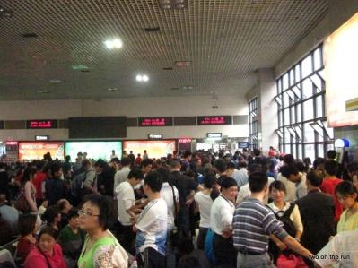 Wartehalle im Westbahnhof Peking