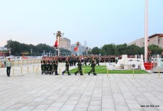 Fahnenappell auf dem Platz des Himmlischen Friedens