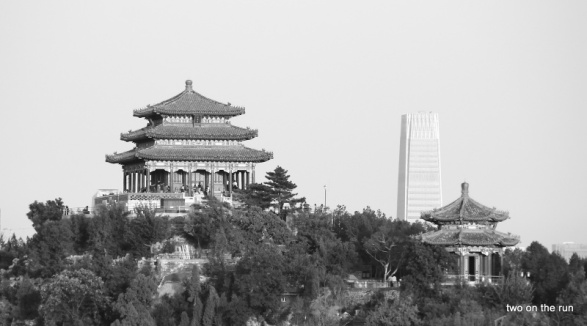 Blick vom Beihai Park zum Jingshan Park