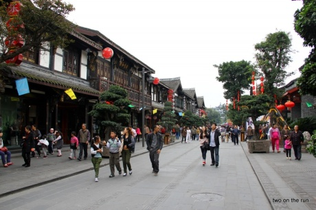 Traditionelles Viertel in Chengdu