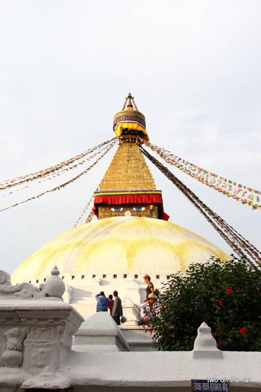 Boudhanath-Stupa - Pilgerstätte der Exiltibeter