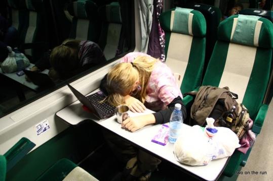 Guten Nacht Frau Schiemenz-Zug nach Budapest