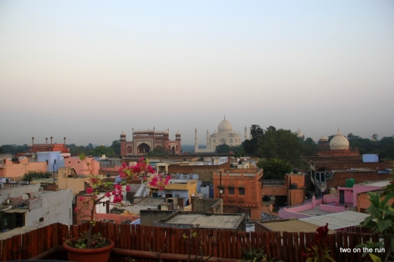 Taj Mahal am Morgen