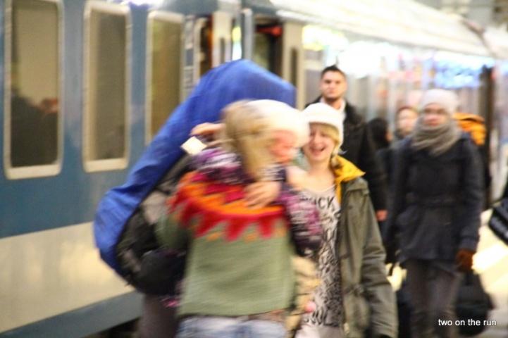 Vor Freude verwackelt, Ankunft in Berlin