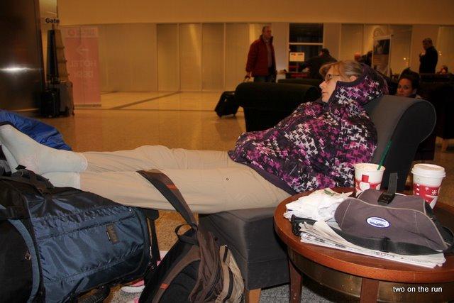 Kurzes Nickerchen auf dem Airport Istanbul