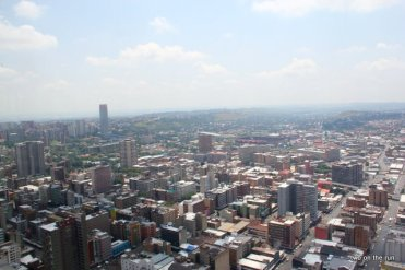 Blick vom Top of Africa auf Johannesburg