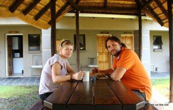 Kaffeepause in der Lodge