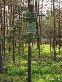 Alte Heimat - Wegweiser unterhalb der Kiesgrube