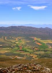 Route 62 - Blick vom Rooibergpass in die Klein Karoo