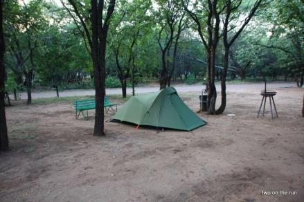 Krüger Park - Im Camp mit unserem Zelt