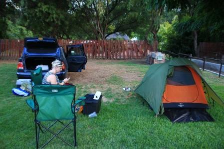 Beim Zelten in Montagu