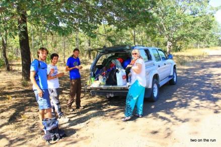 Auf dem Weg nach Bulawayo -Die Ornithologen