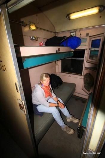 Zug nach Victoria Falls - Unser Abteil