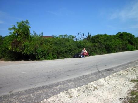 Im Süden Zanzibars - Warten auf den Minibus