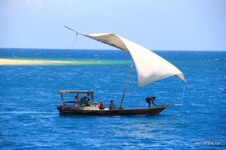 Das typische Boot in Zanzibar - die Dhau