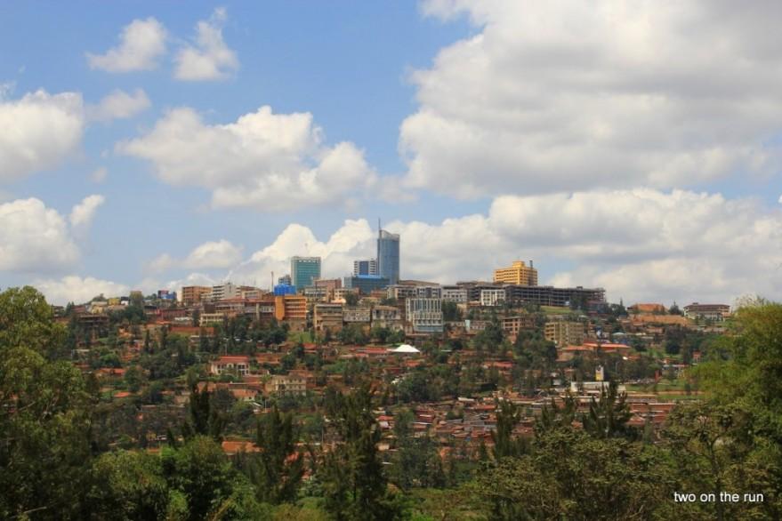 Blick auf das Zentrum von Kigali