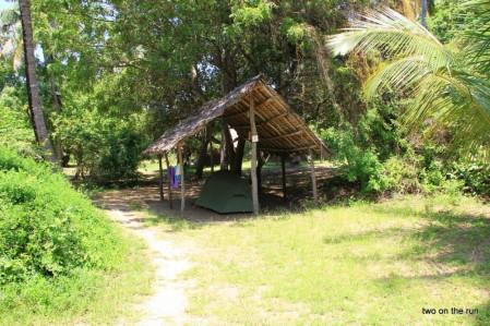 Peponi Beach Resort -Unser Zeltplatz