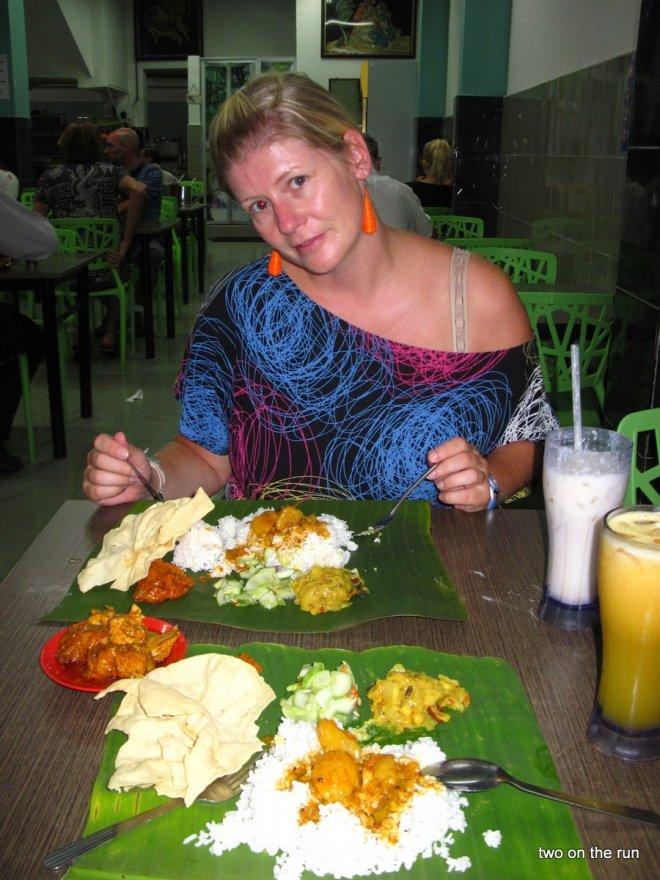 Angie beim Inder