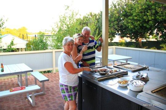 Perth - Grillen auf dem Campingplatz