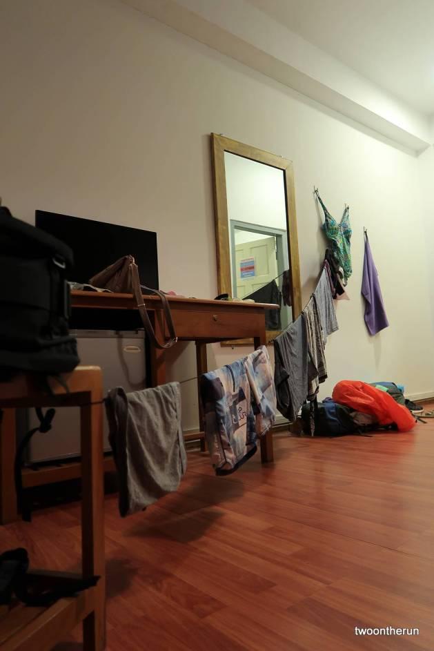 Wäsche trocknen im Hostel