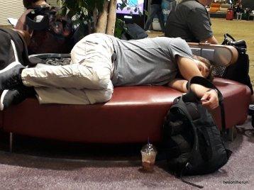 Übernachtung am Singapur Airport