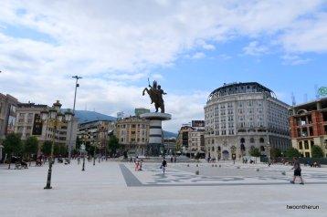 Skopje - Krieger auf Pferd