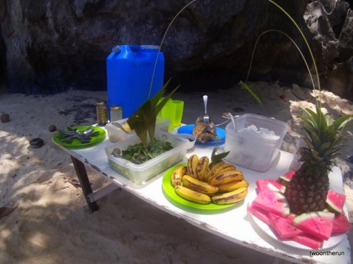 Mittagessen beim Ausflug - El Nido