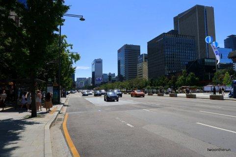 Straßenbild von Seoul
