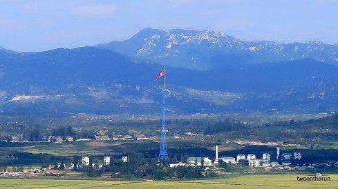 Blick über die DMZ nach Nordkorea