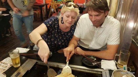 Takeshita-dori Street - Okonomiyaki Restaurant