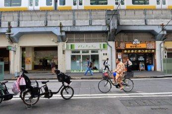 Ryogoku Distrikt - Sumo Ringer auf dem Weg zur Arbeit