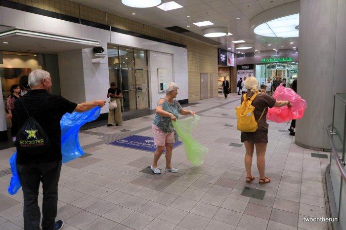 Tokio - Vom Regenschauer überrascht