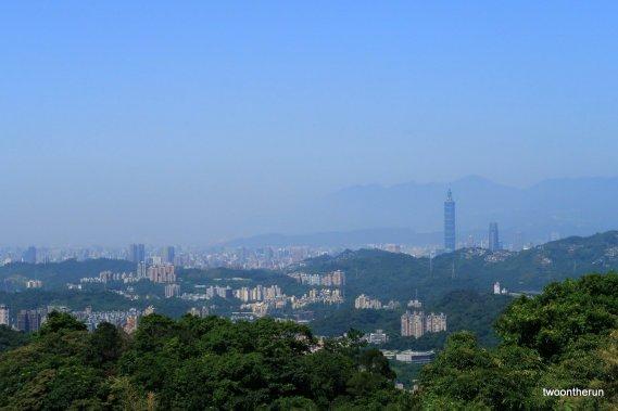 Blick auf Taipeh von der Maokong Gondola
